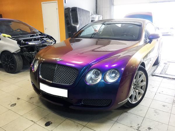 Bentley Continental GT покраска хамелеон