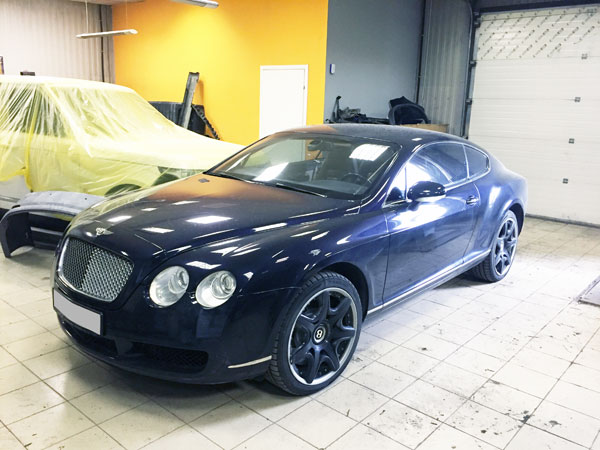 Bentley Continental GT покраска кузова